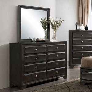 Item # 278DR Gray Dresser - Style Transitional<br> Color/Finish Gray<br> Material Solid wood, wood veneer, others<br> Hardware Nickel square knob<br> Product Dimension<br> Dresser 58 1/4