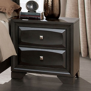 275NS Gray Nightstand - Style Transitional<br>