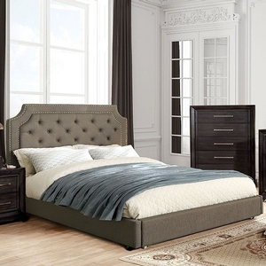 1182FB Full Bed in Gray - Style Contemporary<br> Color/Finish Gray<br> Material Linen-like fabric<br> Upholstery Color Gray<br> Product Dimension<br> Full Bed 84