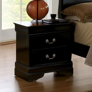 278NS Black Night Stand - Style Transitional<br>