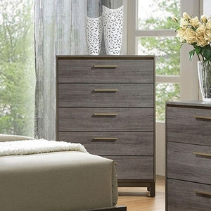 Item # 320CH Antique Gray Chest - Style Contemporary<br> Color/Finish Two-tone antique gray<br> Material Solid wood, others<br> Hardware Brass bar pulls<br> Product Dimension<br> Chest 33 1/2