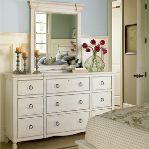 894M Mirror - Finish: Cotton<br><br>Dresser Sold Separately<br><br>Dimensions: 37W x 7D x 43H