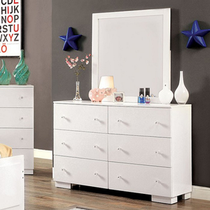 897M Mirror - Finish: White<br><br>Dresser Sold Separately<br><br>Dimensions: 32 1/4