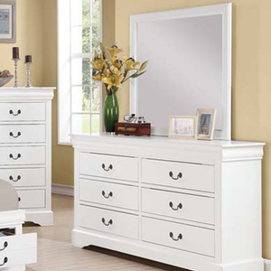 967M Mirror - Finish: White<br><br>Dresser Sold Separately<br><br>Dimensions: 36