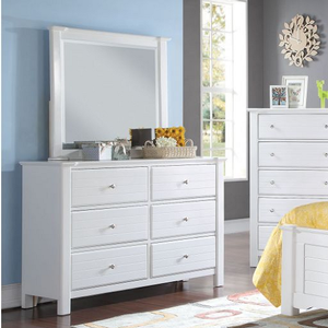 969M White Mirror - Finish: White<br><br>Dresser Sold Separately<br><br>Available in Black<br><br>Dimensions: 48