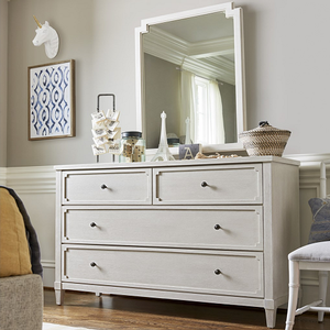 970M Mirror - Finish: Alabaster<br><br>Dresser Sold Separately<br><br>Dimensions: 30W x 2D x 40H