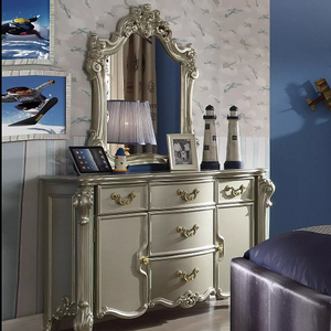 971M Aurora Collection Mirror - Finish: Champagne<br><br>Dresser Sold Separately<br><br>Dimensions: 34
