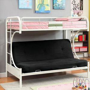 Item # A0022MBB - Finish: White<br>Upper Bed Clearance: 38H<br>Dimensions: 79
