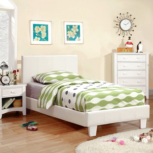 Item # A0011PL - Finish: White<br>Available in Full Size Bed<br>Dimensions: 80 1/2L X 42 1/4W X 39 1/2H