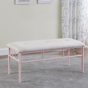 Item # A0013KCH - Finish: Powder Pink<br><br>Dimensions: 34.50W x 18.50D x 59.25H