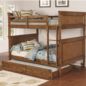 Item # A0012FF Full/Full Bunk Bed - Finish: Rustic Honey<br><br>Available in Twin/Twin & Twin/Full Bunk<br><br>*Optional Storage Trundle<br><br>Dimensions: 81