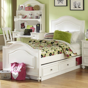 Item # A0023CPT - Finish: Natural White<br>Available in Full Size Bed<br>Dimensions: 56W x 83D x 59H