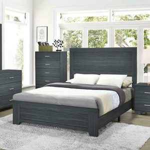 Item # A0092T Twin Bed - Finish: Dark Grey Oak<br><br>Available in Rustic Pine finish<br><br>Shown in Queen Size<br><br>Dimensions: 56.25W x 79D x 50.25H