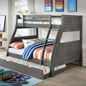 Item # A0020TF Twin/Full Bunk Bed - Finish: Antique Gray<br><br>Available in Antique White<br><br>Dimensions: 79 1/8