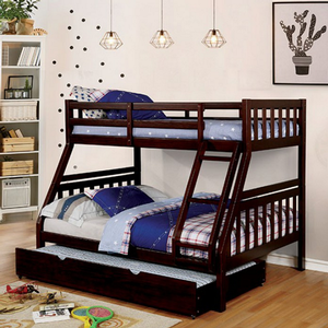 Item # A0154TF - Finish: Dark Walnut<br>Available in Wire-Brushed Warm Gray<br>Available in Twin/Twin Bunk Bed<br>Dimensions: 78 1/8