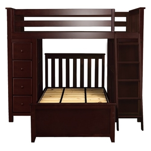 Item # JLB0020 - ADDITIONAL INFORMATION<BR> Weight: 307 lbs<BR> Dimensions: L 99 W 45.75 H 68.25 in <BR> Bed Size: Twin<BR> Finish: Espresso