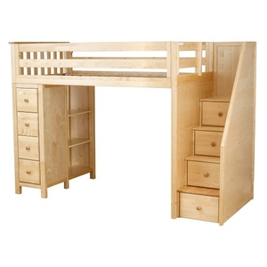 Item # JLB0012 - ADDITIONAL INFORMATION<BR> Weight: 324 lbs<BR> Dimensions: L 99 W 45.75 H 68.25 in<BR> Bed Size: Twin<BR> Finish: Natural<BR>