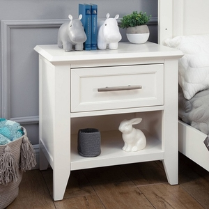 Item # A0002NS - Finish: Warm White<br>Available in Stone and Dark Ash finish<br>Assembled size: 25.71L x 16.93W x 25.98H<br>Weight: 46.3lbs