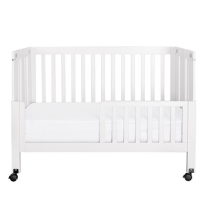 CB013 Toddler Bed Conversion Kit in White - Finish: White<br><br>Available in Black & Grey<br><br>Made in China<br><br>Assembly Weight: 5.5 lbs<br><br>Dimensions: 53
