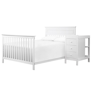 CD001 Full Conversion Kit in White - Convert your crib into a full size bed Full Size Mattress Sold Separately<br><br>Box Spring Sold Separately<br><br>