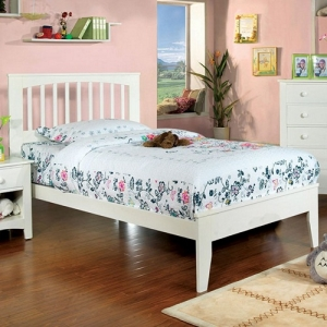 0945T Twin Platform Bed - Platform Bed<br><br>Paneled Headboard<br><br>Slat Kit Included<br><br>