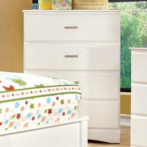 Item # 119CH White 4 Drawer Chest - White 4 Drawer Chest with durable center metal glides<br><br>
