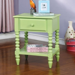 Item # A0037NS - Finish: Apple Green<br>Materials: Solid Wood<br>Dimensions: 19