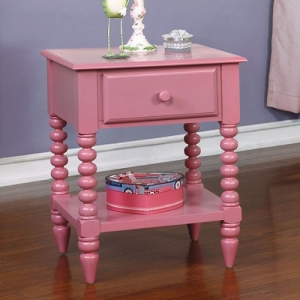 Item # A0087NS - Finish: Pink<br>Materials: Solid Wood<br>Dimensions: 19