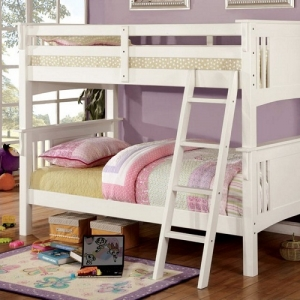 Item# A0039TT - Finish: White<br>Upper Bed Clearance: 33H<br>Dimensions: 86 1/2L X 67 1/2W X 65 1/2H