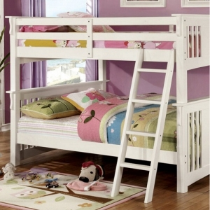 Item # 008FF Full/Full Bunk Bed - Available in Twin XL/Queen, Twin/Twin & Twin/Full<br><br> Mission Style<br><br>10 Pc. Slats Top & Bottom<br><br>Extra Safety Insert & Lock Joint Structure<br><br>