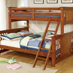 Item # 020QB Oak Twin XL/Queen Bunk Bed - Available in Twin/Twin, Full/Full & Twin/Full<br<br>Mission Style<br><Br>Angled Ladder<br><br>10 Pc. Slats Top & Bottom<br><Br>Extra Safety Insert & Lock Joint Structure<br><Br>