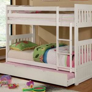 0078TT Twin/Twin Bunk Bed - Available in Twin/Full<br><br>Mission Style<Br><br>Front Safety Ladder<br><br>Paneled H/B and F/B<br><br>