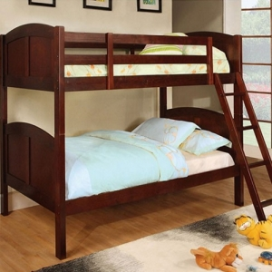 Item # A0082TT - Finish: Cherry<br>Upper Bed Clearance: 28H<br>Dimensions: 79L x 41 3/4w x 61 1/4H>