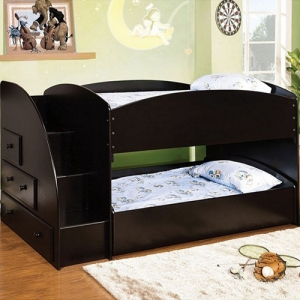 Item # A0080TT - Finish: Black<br>Upper Bed Clearance: 16H<br>Dimensions: 93 3/4