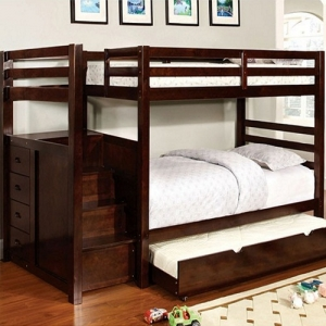 A0021TT Twin/Twin Bunk Bed w/ Steps & Drawers - Available in Twin/Full<br><br>Built-in Drawers & Front Access Steps<br><Br>14 Pc. Slats Top & Bottom<br><br>Extra Safety Insert & Lock Joint Structure<br><br>