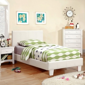 1008T Leatherette Twin Bed
