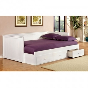 018DB Full Size Daybed W/ Drawers in White