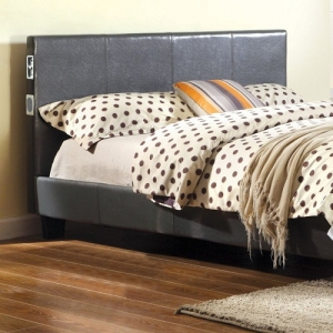 Item # 0994FB Full Platform Bed - Padded Platform Bed<br><br>Bluetooth Capability<br><br>