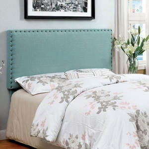 240HB Blue Fabric Headboard - Availalbe in Twin & Queen Headboard (Full Size Compatible)<br><br>Padded Linen-like Fabric<br><Br>