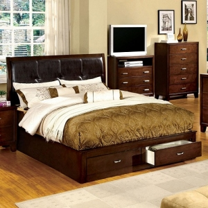 Item # 025Q Storage Platform Queen Bed