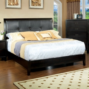 1079FB Full Padded Leatherette Bed - Dimensions: 80 1/4