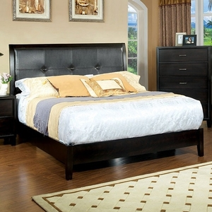 1170FB Full Bed  - Style Contemporary<br> Color/Finish Espresso<br> Material Leatherette, Upholstery Color Espresso<br> Product Dimension<br> Full Bed 80 1/4