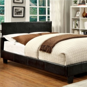 Item # 1040FB Full Platform Leatherette Upholstered Bed - Padded Platform Bed<br><br>
