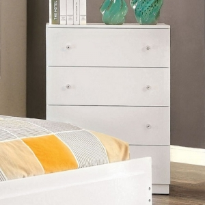 Item # 110CH Contemporary Chest W/ 4 Drawers - White Contemporary Style Chest with 4 drawers <br><br>