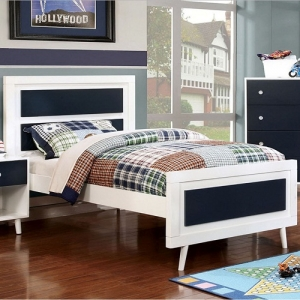 0125T Twin Bed - Optional Trundle<br><br>Mattress ready, slat kit included<br><br>