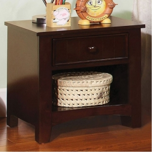061NS Dark Walnut Nightstand  - Finish: Dark Walnut<br><br>Dimensions: 19