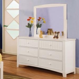Item # 067M Mirror - Finish: White<br><br>**Dresser Sold Separately**<br><br>Dimensions: 32 1/4