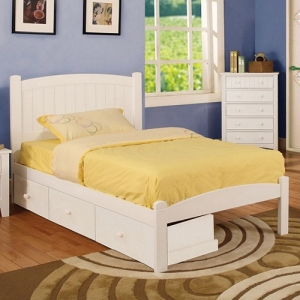0939T Twin Platform Bed - Platform Bed<br><br>Slat Kit Included<br><bR>Paneled Head Board<br><br>
