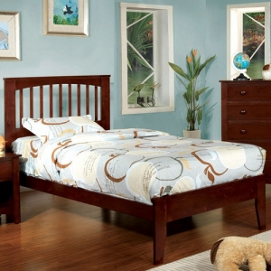 092FB Twin Bed - Platform Bed<br><br>Paneled Headboard<br><br>Slat Kit Included<br><br>