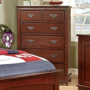 039CH 6 Drawer Chest - Durable Center Metal Glides<br><Br>